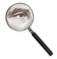 eye and magnifying glass