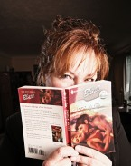 Colleen Colleen with her novel SHOCK WAVES