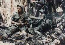 US Army troops on break during Vietnam War