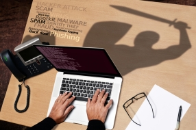 cybersecurity computer desk licensed shutterstock