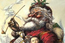 Santa's Portrait by illustrator Thomas Nast, 1881 (image is in public domain)