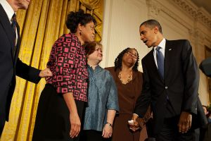 Family of hate crime victimes Matthew Shepard & James Byrd, Jr. with President Obama for the Hate Crimes Prevention Act, 2009.