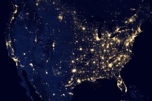 United States at night NASA Unsplash pub domain