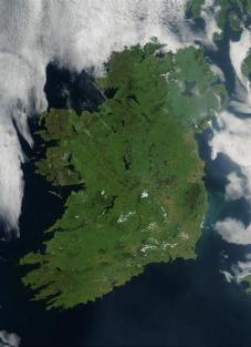 NASA photo of Ireland (image is in public domain)