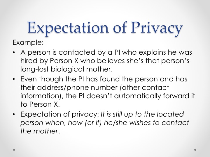 Expectation of Privacy slide 2