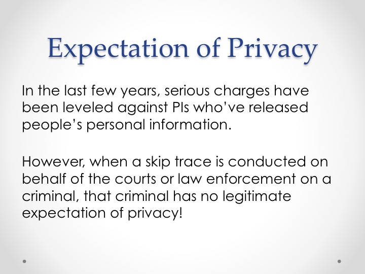 Expectation of Privacy slide 3